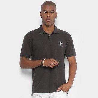 Camisa Polo Calvin Klein Detalhe Bordado Masculina e7742e42a843a