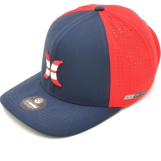 Boné Hurley American Dri Fit - Azul e Vermelho - Compre Agora  c830d1306e9
