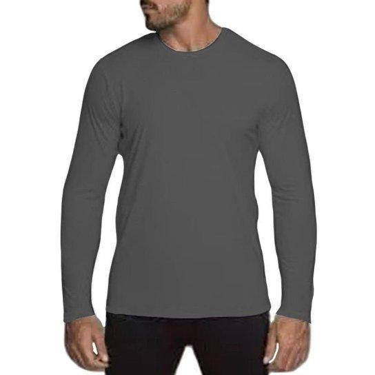 97ec2a99ef Camiseta Lupo Repelente UV Manga Longa Masculina - Grafite - Compre ...