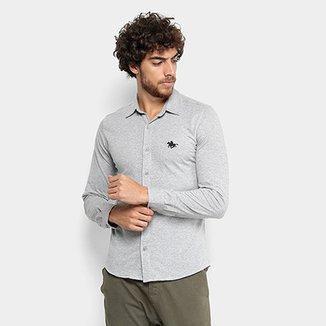 e55381b2d41fe Camisa Manga longa RG 518 Ponto Bordado Masculina