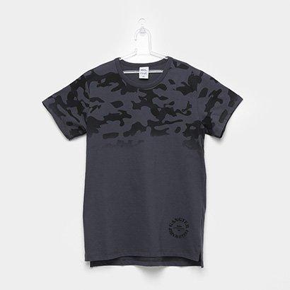 Camiseta Infantil Kamylus Camuflada Masculina