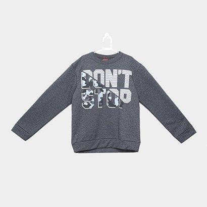 Blusão em Moletom Infantil Kyly Don't Stop Masculino