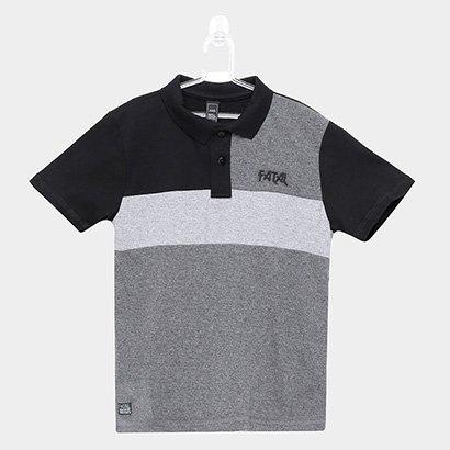 Camisa Polo Infantil Fatal Listra Masculina