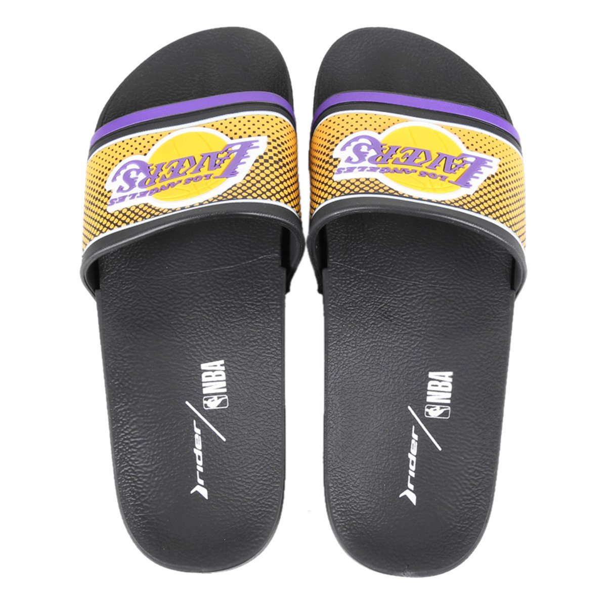 Chinelo Slide NBA Los Angeles Lakers Rider Full 86 Masculino
