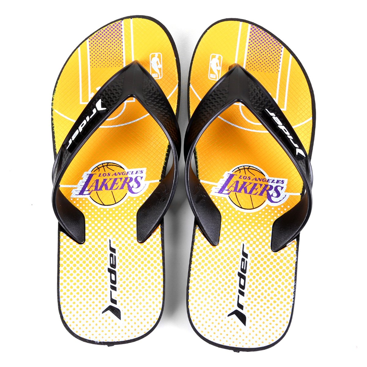 Chinelo NBA Los Angeles Lakers Rider Street Bold Ad Masculino