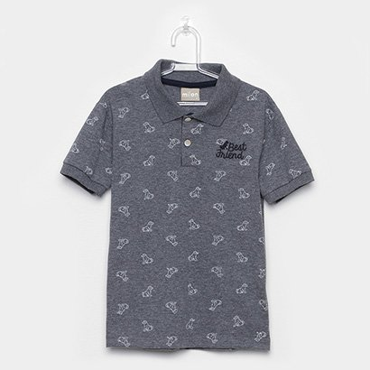 Camisa Polo Infantil Milon Best Friend Masculina