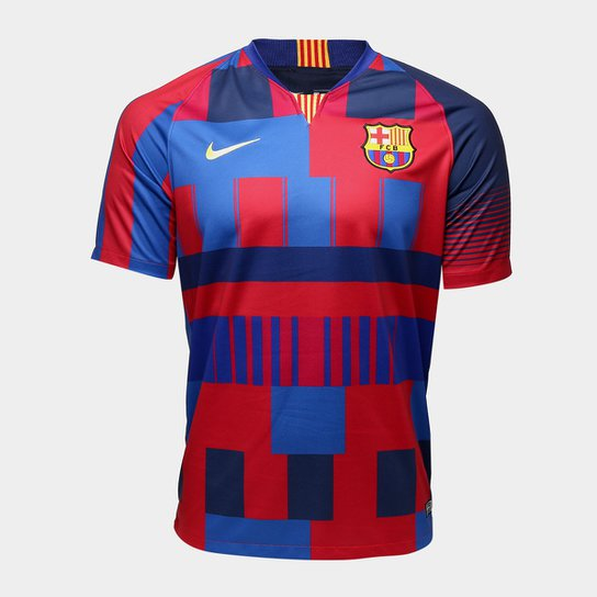 95f6db1f0d506 Camisa Barcelona 20 Anos Edição Limitada - Torcedor Nike Masculina -  Azul+Vermelho