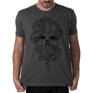 Camiseta Crânio cobra stupid man Artseries Masculina bb408211a52