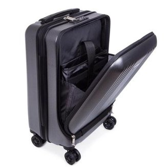 f616771903562 Mala de Bordo Executiva para Notebook para Viagem ABS Roda Dupla Giro 360º  Cadeado TSA SWISSLAND