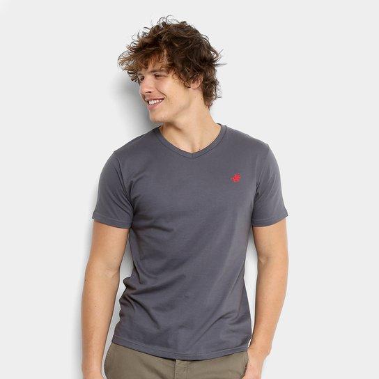 Camiseta Polo UP Gola V Masculina - Grafite - Compre Agora  7dba506f3d2ef
