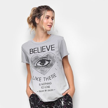 Camiseta Colcci Fitness Belive Like There Feminina