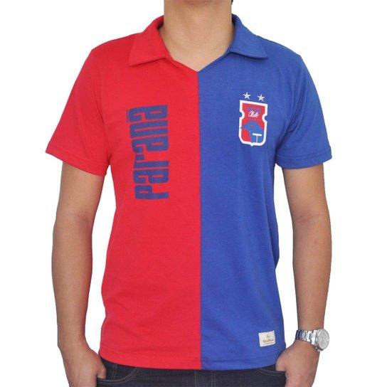 Camisa Retrô Mania Paraná Clube Anos 90 - Azul e Vermelho - Compre ... ac27a3fc8ca47