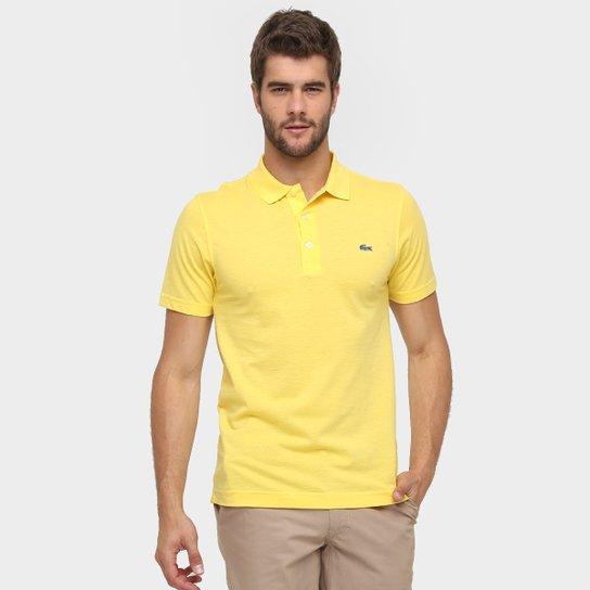 e63976ab261 Camisa Polo Lacoste Super Light Masculina - Amarelo Escuro - Compre ...