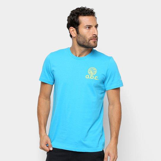 6df3a0639de97 Camiseta Adidas Abc Happy Ball Masculina - Azul Claro - Compre Agora ...