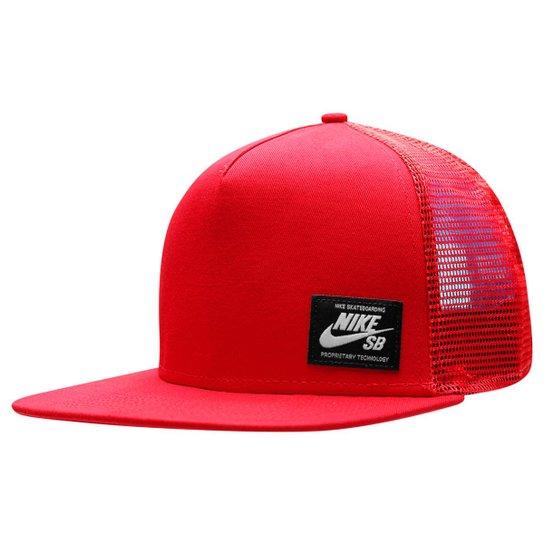 Boné Nike SB Lockup Trucker - Vermelho+Preto b2e5c7e7df5