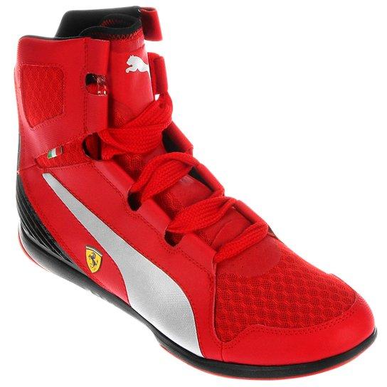 c2972fa4a4 Tênis Puma Valorosso Mid Scuderia Ferrari Webcage - Vermelho+Preto