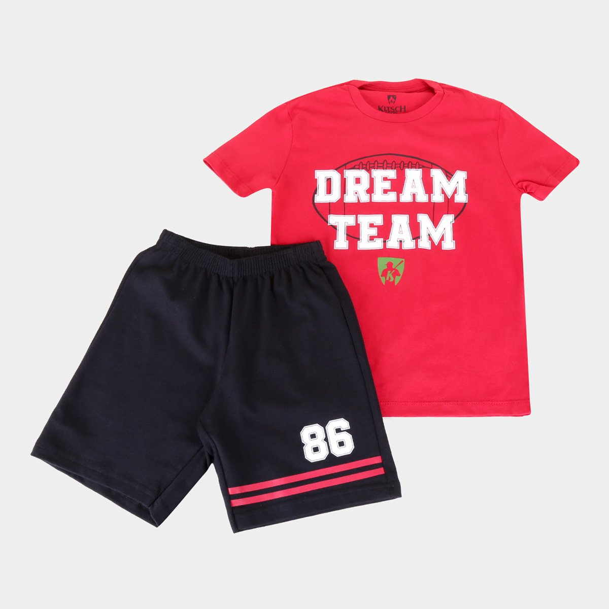 Conjunto Infantil MR. Kitsch Dream Team Camiseta + Short Masculino