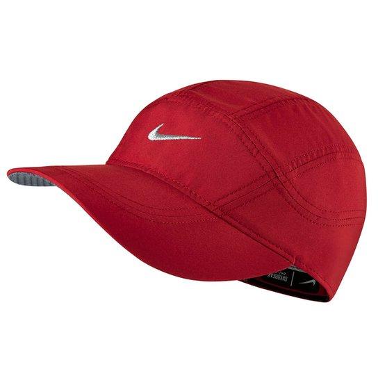 Boné Nike Aba Curva Dri-Fit Spiros - Vermelho+Preto ... 4113f72ec05