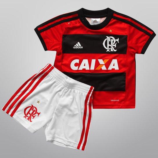 9546d4c7e7 Kit Adidas Flamengo I 2013 Infantil - Vermelho+Preto