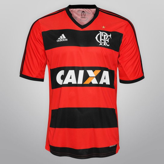 00a58be29e Camisa Adidas Flamengo I 13/14 s/nº - c/ Patrocínio - Vermelho