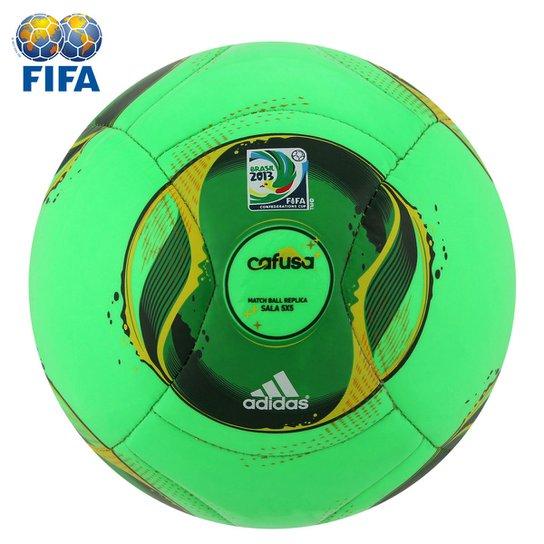47b5415e27c4b Bola Futebol Adidas Cafusa Futsal - Copa das Confederações - Verde+Amarelo