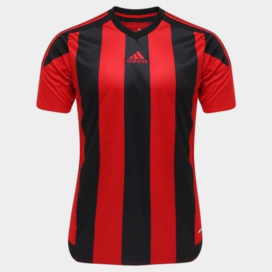82bf13061a Camisa Adidas Striped 15 Masculina - Vermelho e Preto - Compre Agora ...