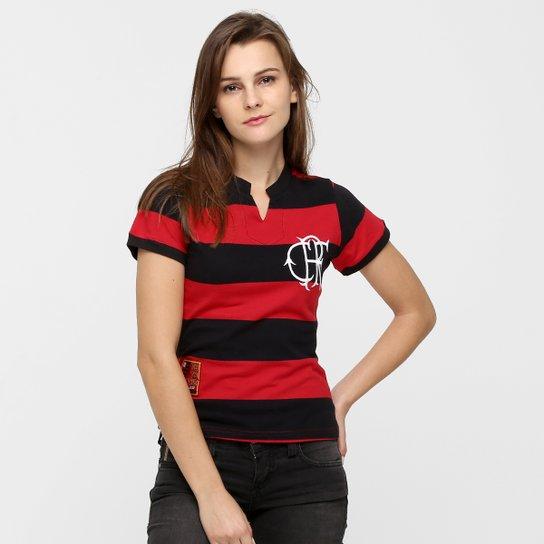 2a86b22a1178f Camiseta Flamengo Fla-Tri Retrô - Vermelho+Preto