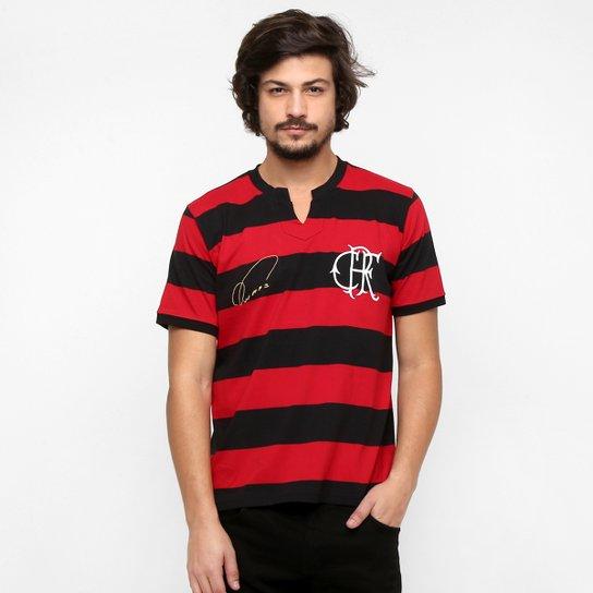 Camiseta Flamengo Retrô - Nunes - Vermelho+Preto 62858f7103ad8