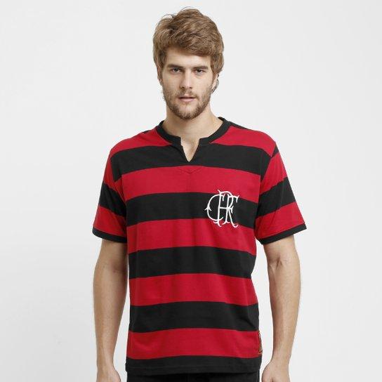 8faa010c53ae5 Camiseta Flamengo Retrô Fla-Tri - Vermelho e Preto - Compre Agora ...
