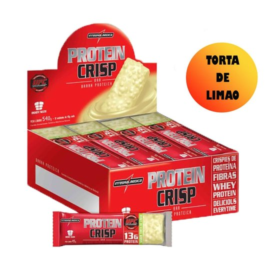 02ea84e39 Protein Crisp Bar Cx. 12Unid Integralmedica Torta De Limao - Proteina -