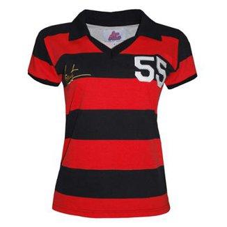 fa4af4b3cf05b Camisa Liga Retrô Evaristo de Macedo 1955 Feminino (Ex jogador Flamengo e  Madureira)