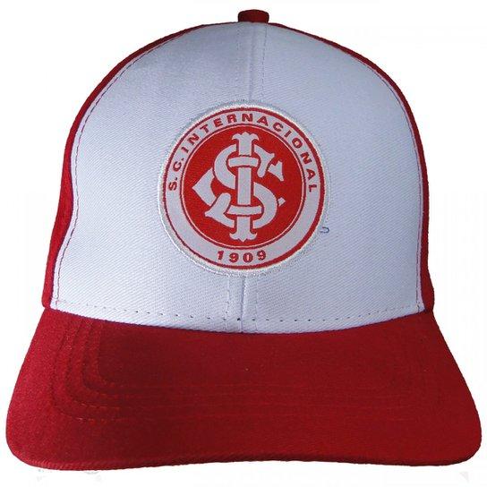 Boné Internacional Sport Club Aba Curva - Vermelho+Preto 85720eb927b