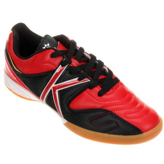 c5b88cca3f Chuteira Kelme Madrid Futsal - Vermelho+Preto