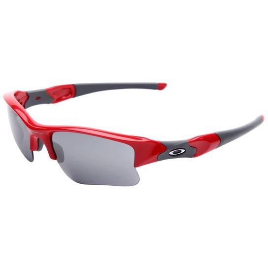 7dcc2251a63d7 Óculos Oakley Flak Jacket XLJ - Iridium - Vermelho+Cinza