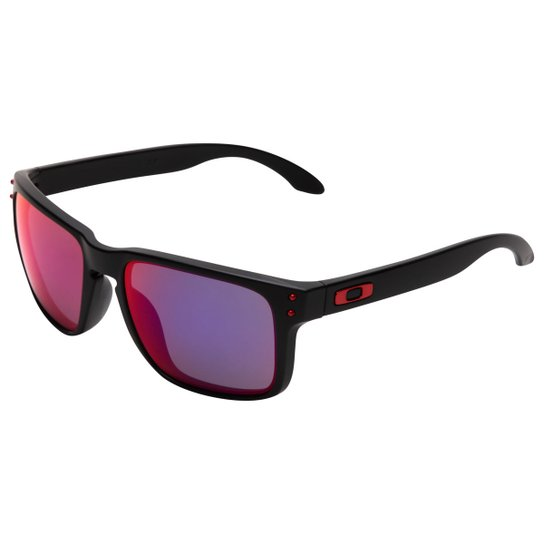 e379d2a0a0081 Óculos Oakley Holbrook - Iridium - Preto e Vermelho - Compre Agora ...