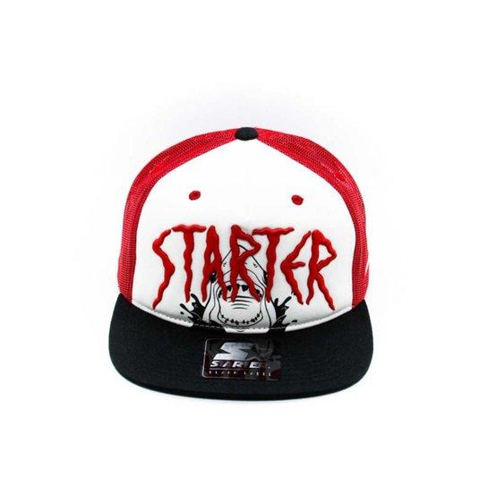 Bone Starter Shark Attack Ii - Vermelho e Preto - Compre Agora ... 659bff80c68