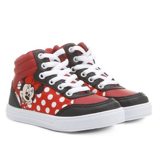 Tênis Disney Minnie Infantil - Vermelho e Preto - Compre Agora ... 08e64296d99d1