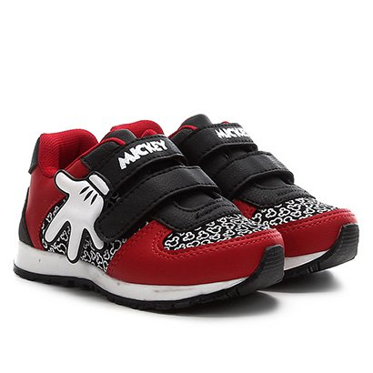 Tênis Infantil Disney Mickey Mão Jogging Velcro Masculino