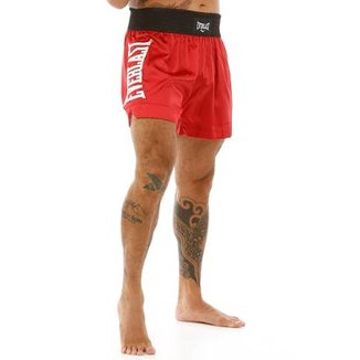 Shorts De Muay Thai Com Borado Assinatura