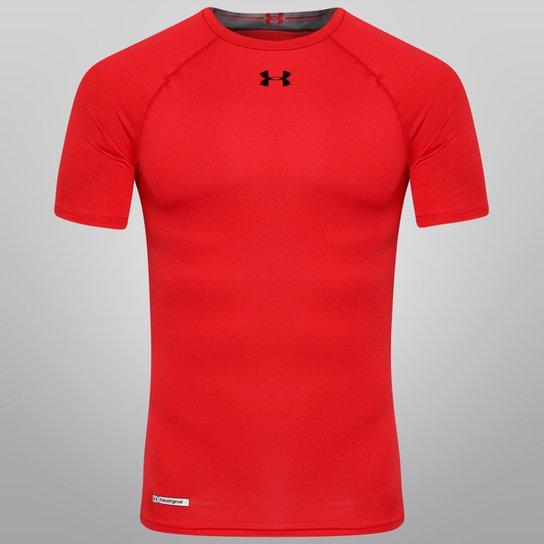 fe4efb10225b8 Camisa de Compressão Under Armour Sonic - Vermelho+Preto