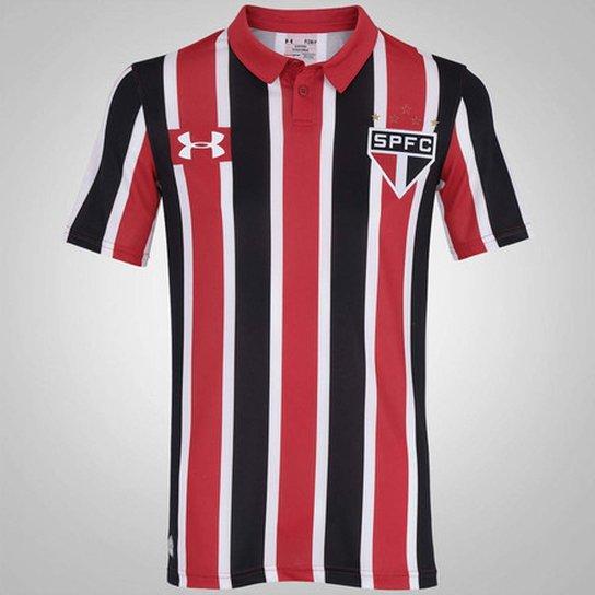 ae3cd741a25 Camisa São Paulo 2016 Uniforme 2 PERSONALIZADA NÚMERO - Under Armour -  Vermelho+Preto