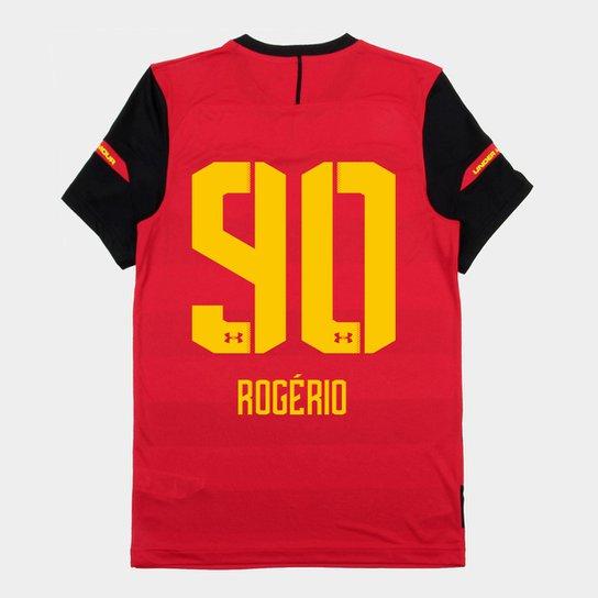 61ed6b38508 Camisa Sport Recife I 2018 Nº 90 Rogério - Torcedor Under Armour Masculina  - Vermelho+