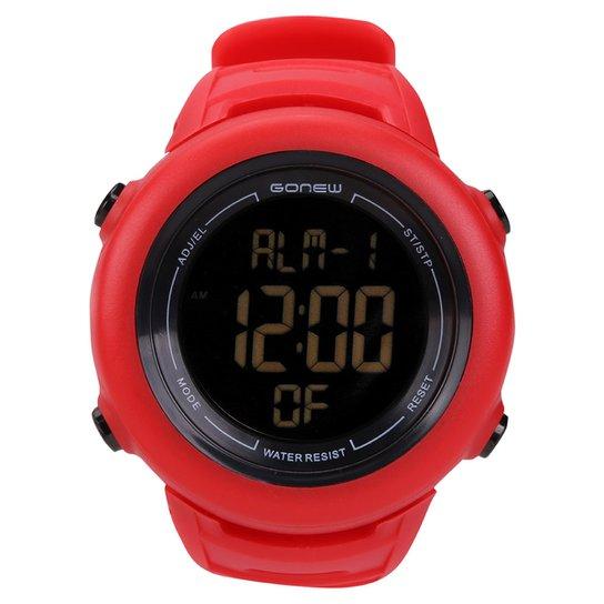 b2154c9d9 Relógio para Corrida Gonew Energy 2 - Vermelho+Preto