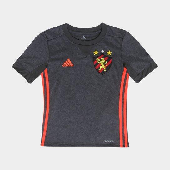 90c010a645 Camisa Sport Recife Infantil II 17 18 s nº Torcedor Adidas - Grafite ...
