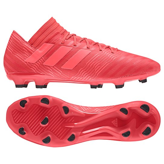 Chuteira Campo Adidas Nemeziz 17.3 FXG - Vermelho e Preto - Compre ... 5d77c6f2a280d