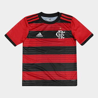 b1dea131b Camisa Flamengo Infantil I 2018 s n° Torcedor Adidas