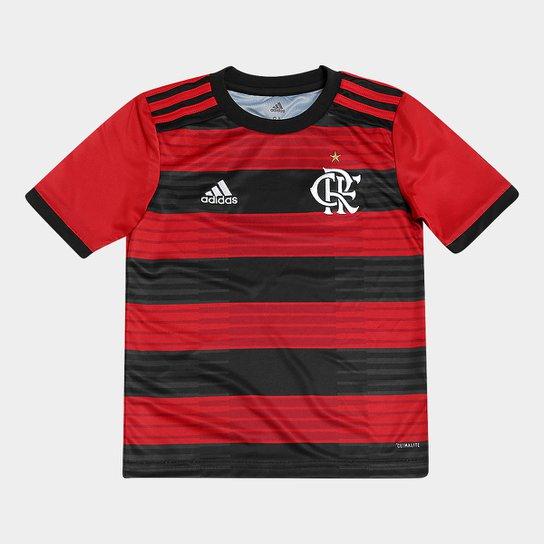 342a495a22 Camisa Flamengo Infantil I 2018 s/n° Torcedor Adidas - Vermelho+Preto