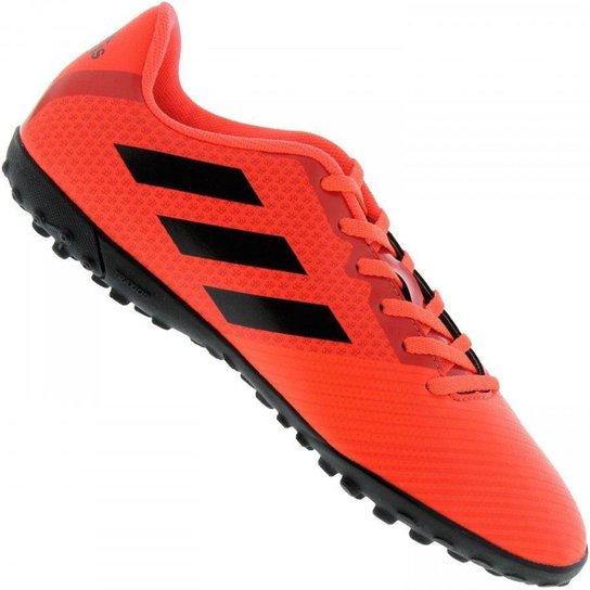 a7799e95a15eb Chuteira Society Adidas Artilheira III TF - Vermelho e Preto | Netshoes