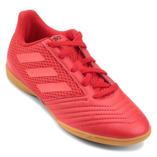 Chuteira Futsal Infantil Adidas Predator 19 4 IN - Vermelho e Preto ... c5804cc8e7174