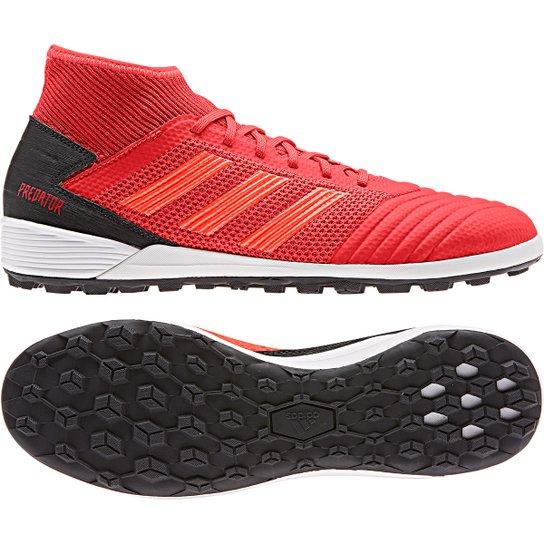 a208e0c03b Chuteira Society Adidas Predator 19 3 TF - Vermelho e Preto - Compre ...
